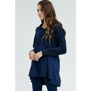 long sleeve pullover hoodie dress tunic plus
